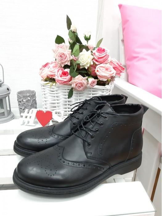 Черные мужские ботинки 7208-28
