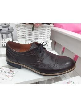Чоловічі туфлі Оксфорди коричневі 7197-28