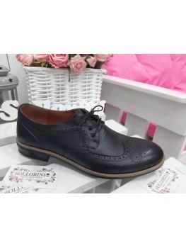 Чоловічі туфлі Оксфорди чорні 7195-28