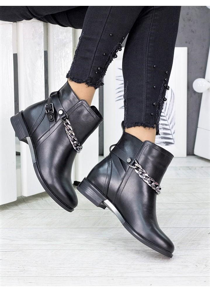 Ботинки кожаные с цепью 7225-28