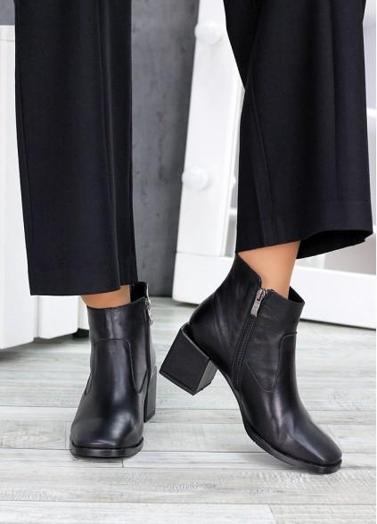 Ботинки чорна шкіра Brandi 7515-28