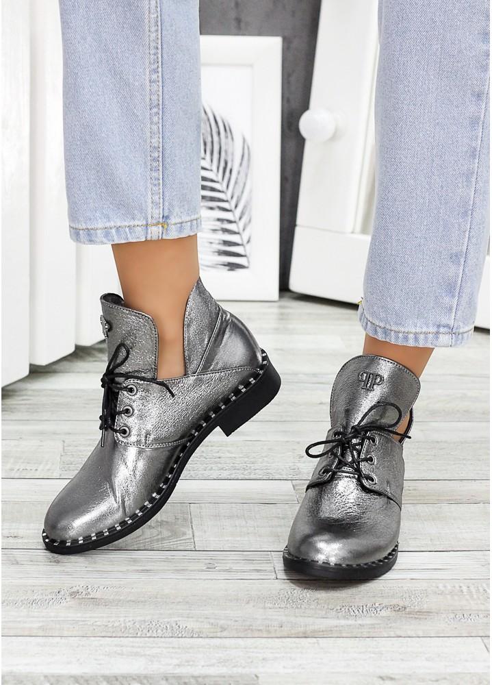 Шкіряні ботинки Аврелія нікель 7535-28