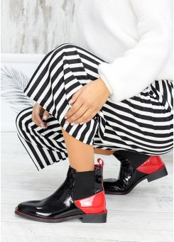 Ботинки Челси лаковая кожа Red 7545-28