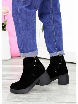 Ботинки чорний нубук АКЦІЯ 7615-28