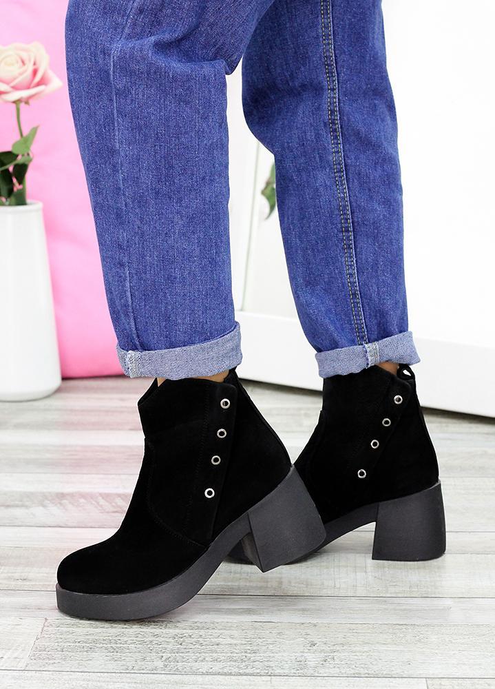 Ботинки черный нубук АКЦИЯ 7615-28