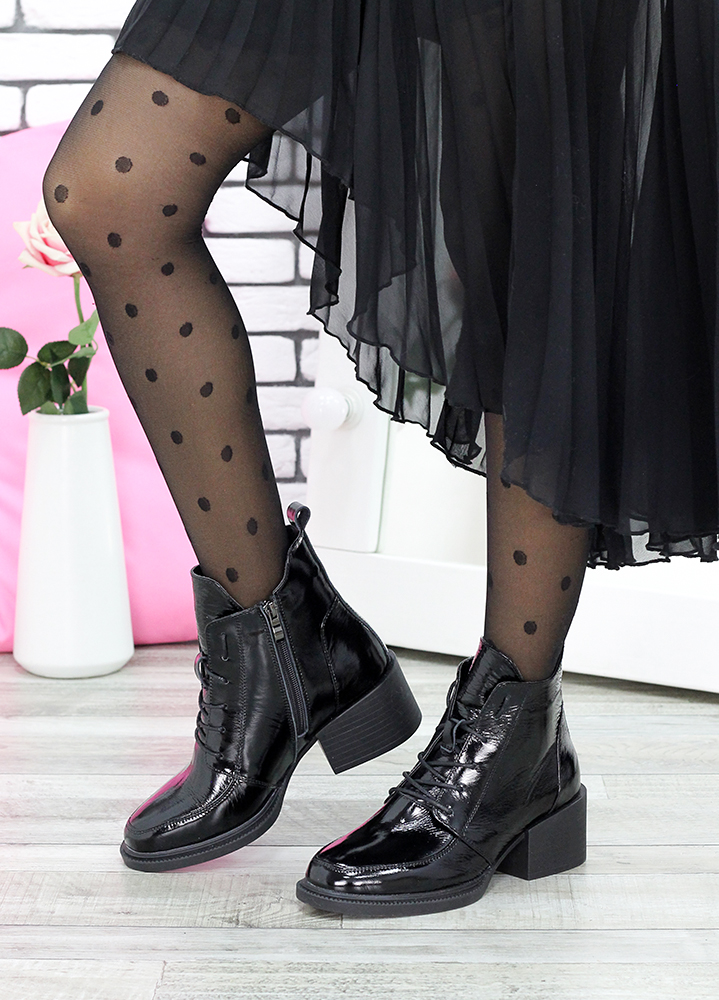 Ботильоны черная лак-кожа Lolita 7616-28