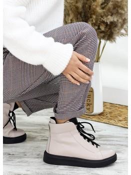 Ботинки беж шкіра Ultimatum 7656-28