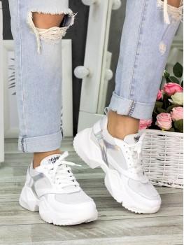 Кросівки білі шкіряні 7323-28