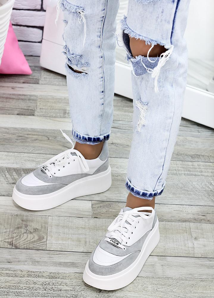 Кросівки шкіряні сірі 7617-28
