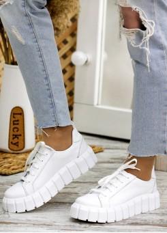 Кросівки біла шкіра Zipper 7776-28