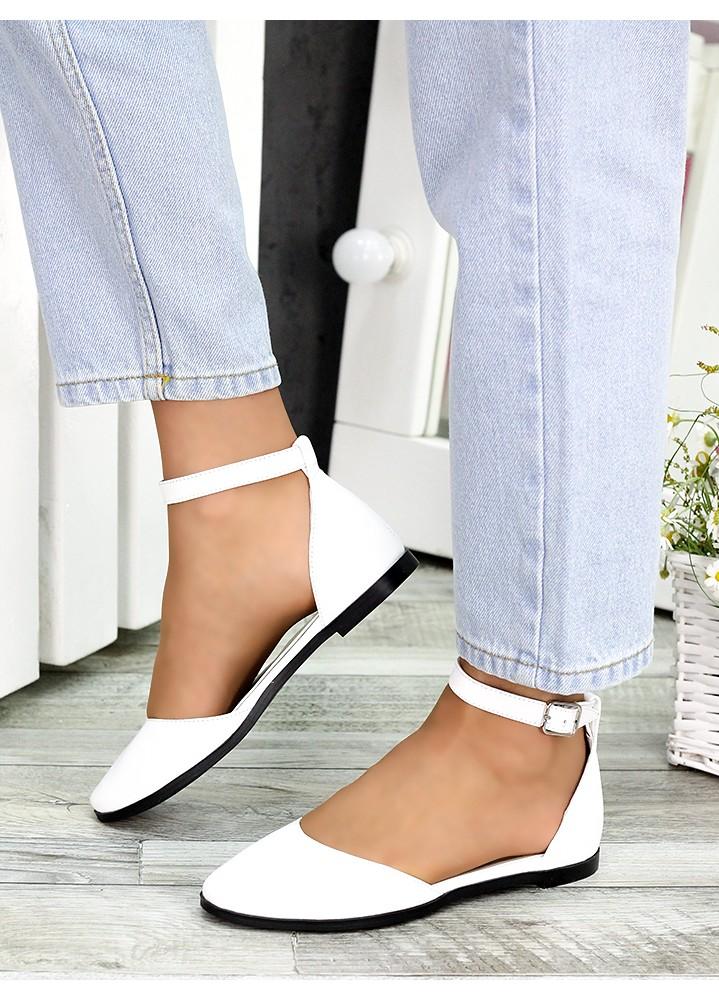 Туфли Алиса белая кожа 7418-28