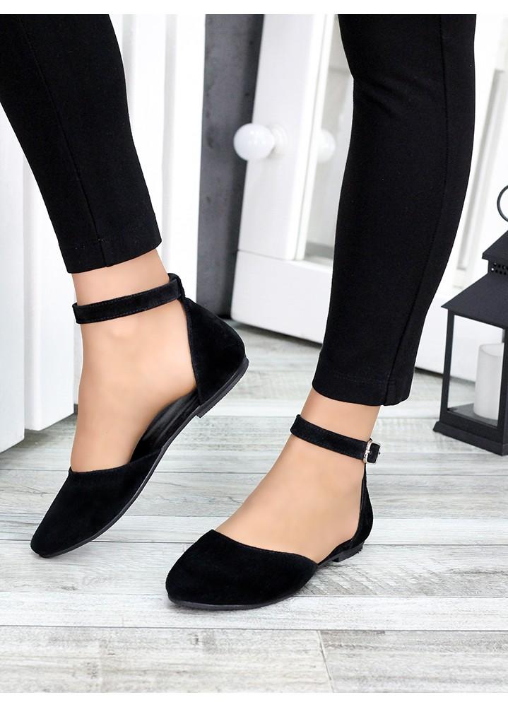 Туфли Алиса черная замша 7420-28