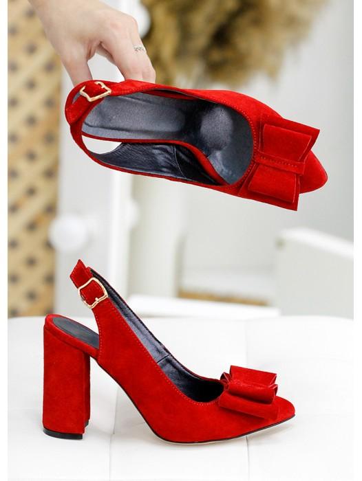 Туфли Bant красная замша 7748-28