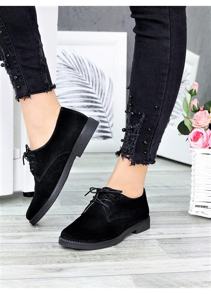 Туфли натуральная замша шнурки 6364-28