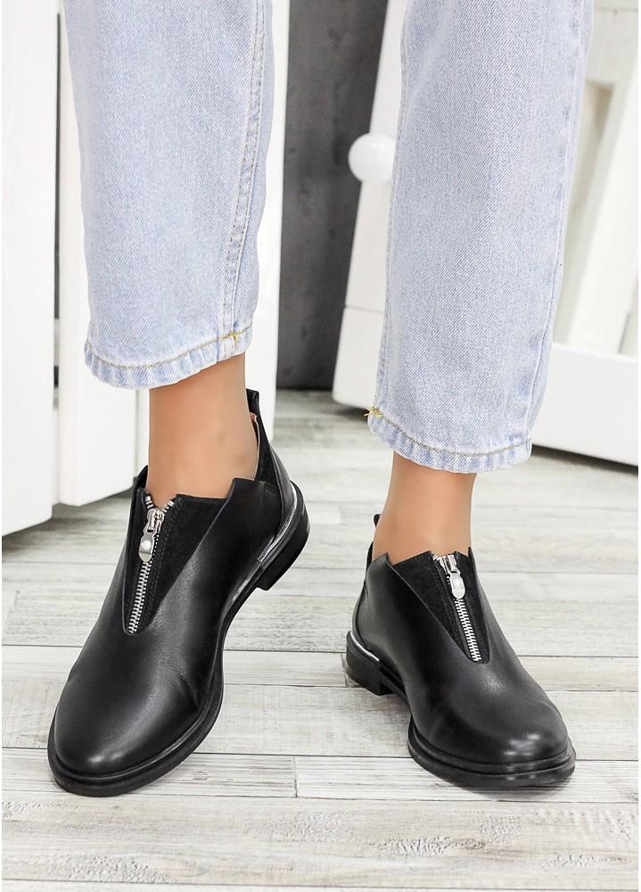 Туфлі чорна шкіра Nikki 6965-28
