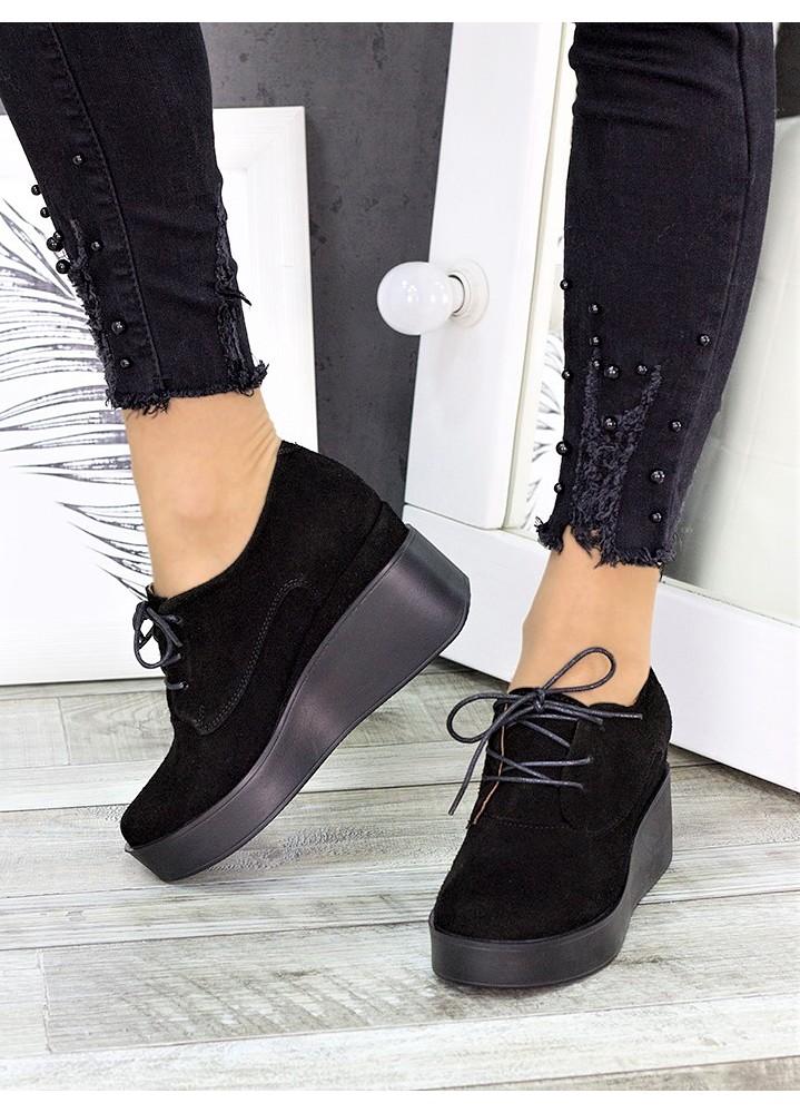 Туфли замшевые на платформе 7281-28