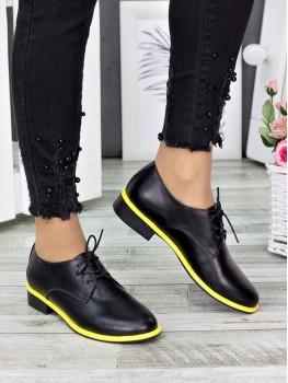 Туфлі оксфорди жовтий неон 7290-28