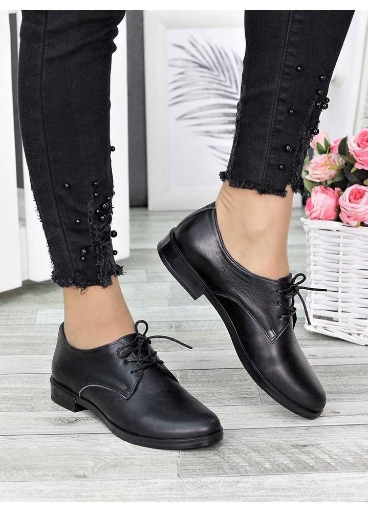 Туфли оксфорды черная кожа 7294-28