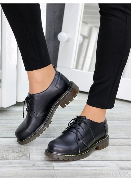 Туфли оксфорды черная кожа 7470-28