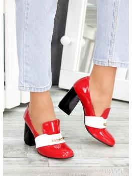 !Туфлі шкіряні червоний лак Loft 7487-28
