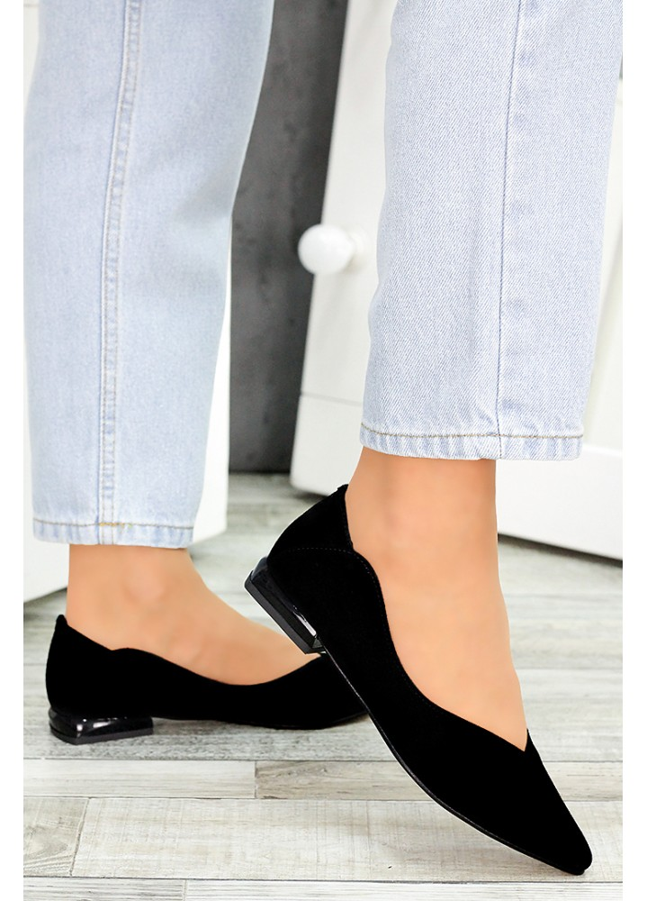 Туфли черная замша Volna 7488-28