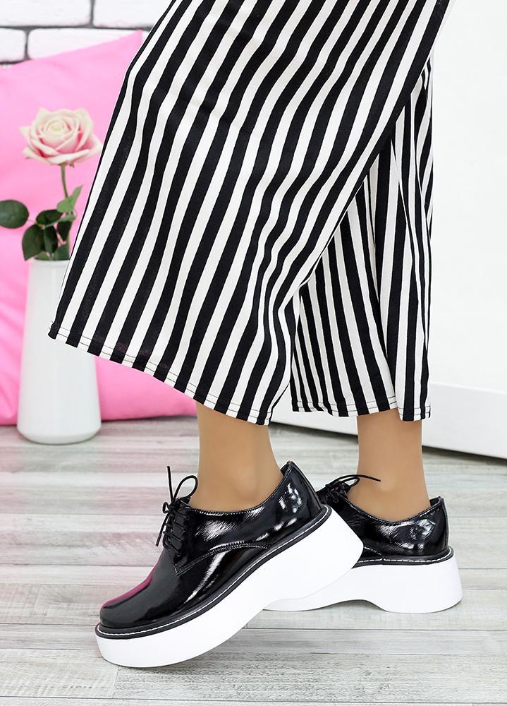 Туфли черная лак-кожа 7625-28
