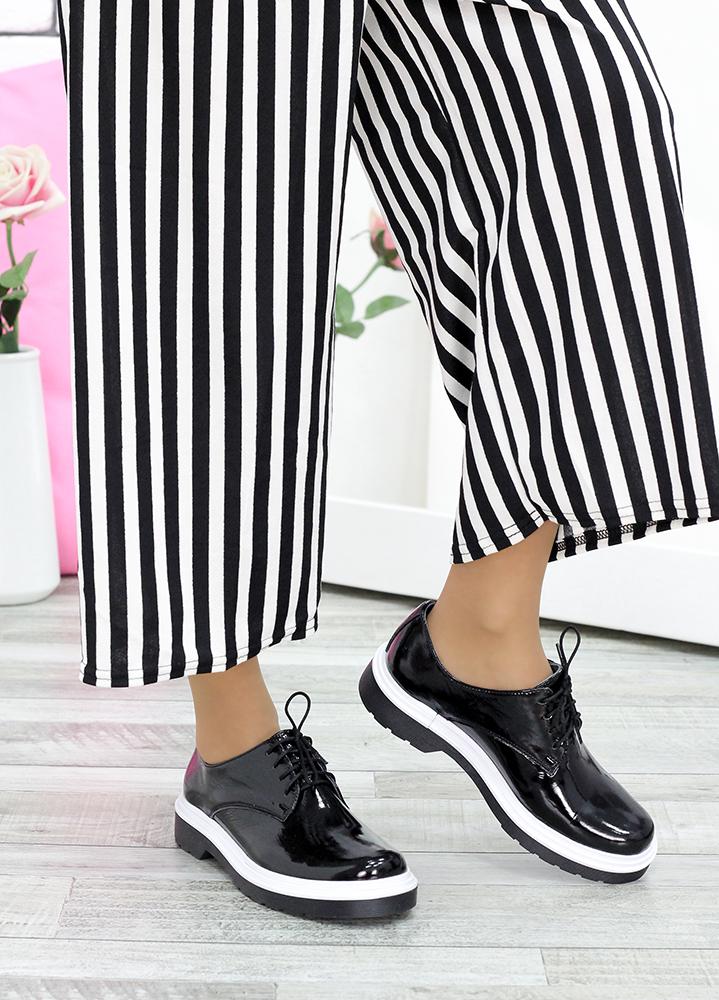 Туфли черная лак-кожа 7632-28