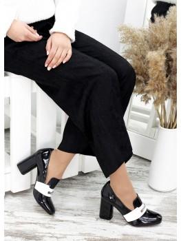 !Туфлі шкіряні сірий лак Loft 7486-28