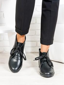 Ботинки Gretta чорна шкіра 6658-28