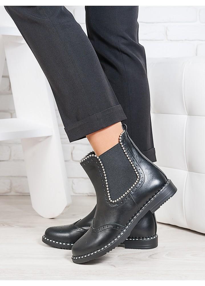 Ботинки Челсі шкіра намистинка 6695-28