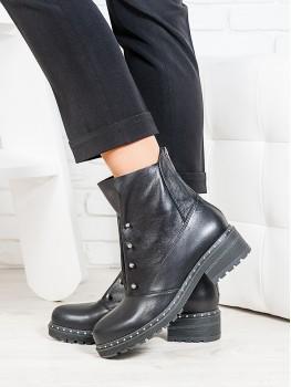 Ботинки Bruck черная кожа 6699-28
