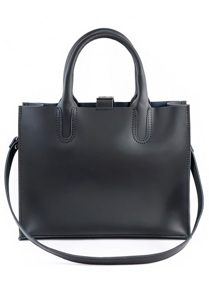 Шкіряна сумка чорна Sollo 6760-11