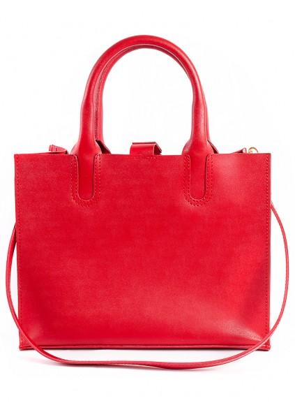 Шкіряна сумка червона Sollo 6761-11