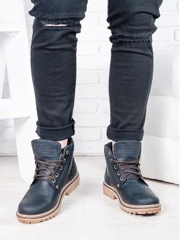 Черные мужские ботинки 6814-28