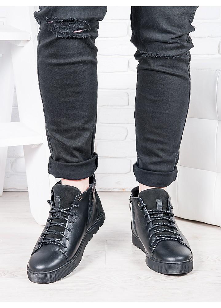 Мужские черные ботинки 6815-28