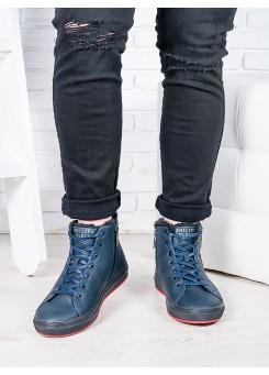 Чоловічі сині ботiнки PP 6817-28