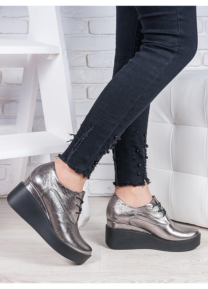 Туфлі шкіряні на платформі 6850-28