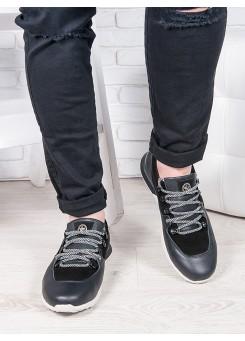 Чоловічі кросівки шкіра т. синій 6889-28