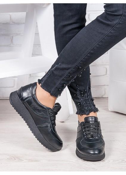 Кросівки шкірянi чорні Лола 6920-28