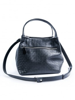 Черная кожаная сумочка MINI 6930-11
