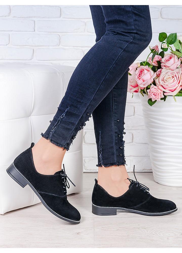 Туфли черная замша Эвелин 7004-28