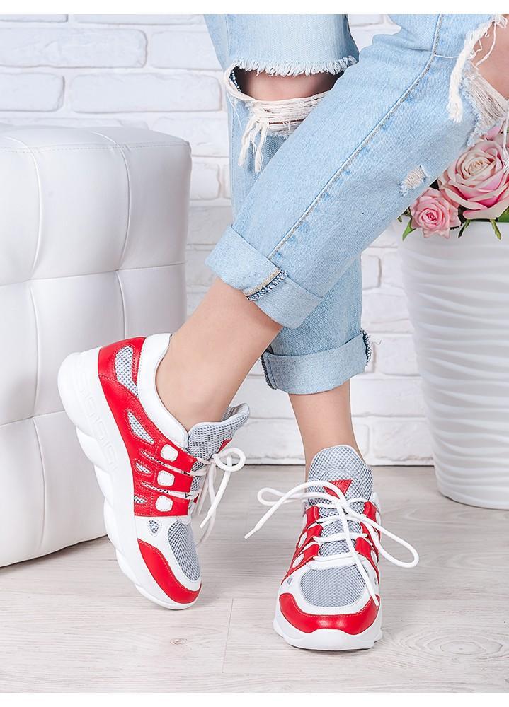 Летние кроссовки красные 7042-28