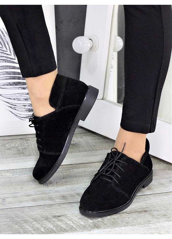 Туфли черные замшевые 7262-28